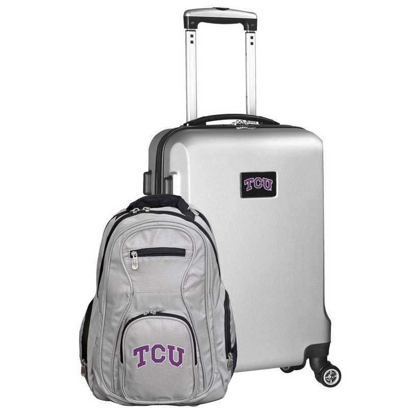 CLTCL104-SILVER: TCU Horned Frogs Deluxe 2PC BP / Carry on Set