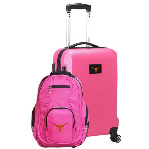 CLTXL104-PINK: Texas Longhorns Deluxe 2PC BP / Carry on Set