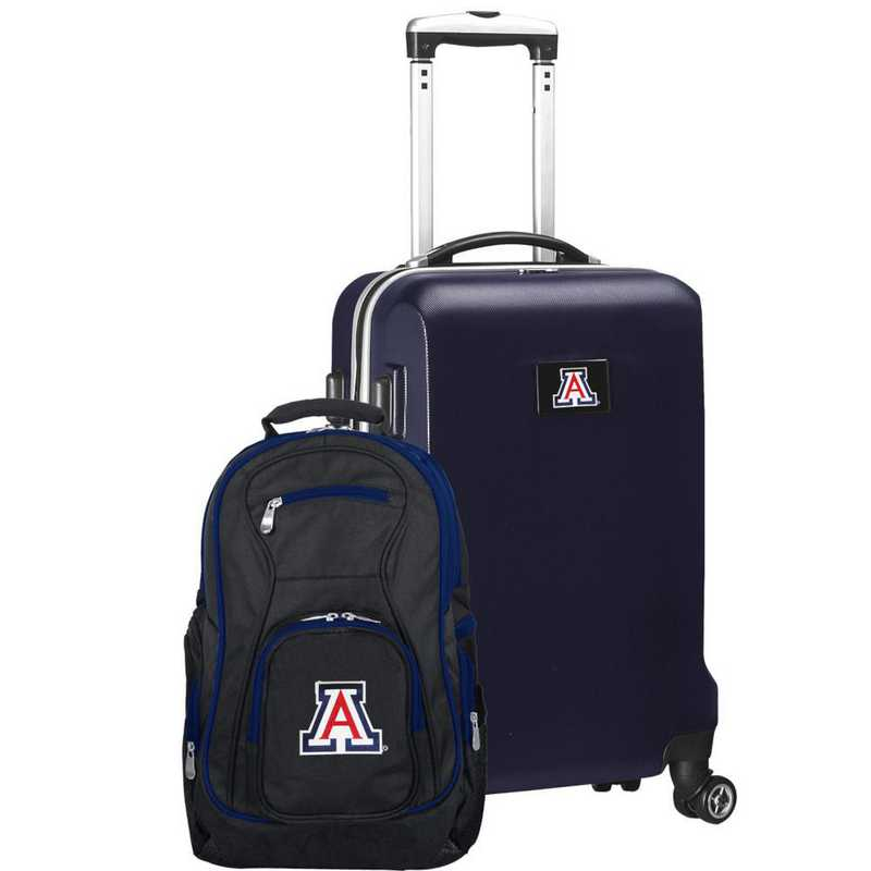CLUAL104-NAVY: Arizona Wildcats Deluxe 2PC BP / Carry on Set