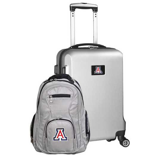 CLUAL104-SILVER: Arizona Wildcats Deluxe 2PC BP / Carry on Set