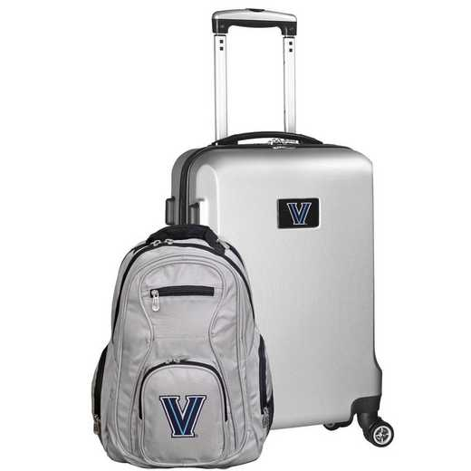CLVLL104-SILVER: Villanova Wildcats Deluxe 2PC BP / Carry on Set