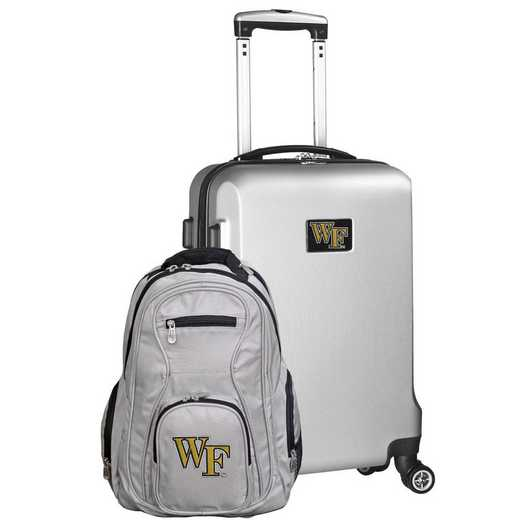 CLWFL104-SILVER: Wake Forest Demon Deacons Deluxe 2PC BP / Carry on Set