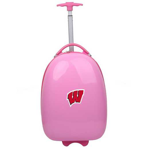CLWIL601-PINK: NCAA Wisconsin Badgers Kids Luggage