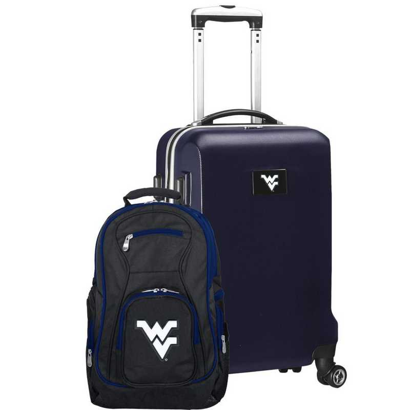 CLWVL104-NAVY: West Virginia Mountaineers Deluxe 2PC BP / Carry on Set