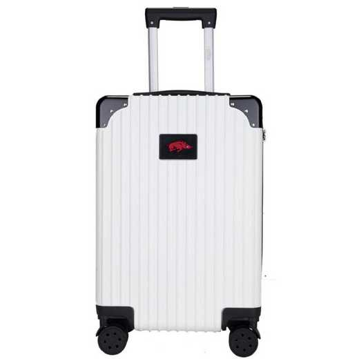 "CLARL210-WHITE: Arkansas Razorbacks Premium 21"" Carry-On Hardcase"