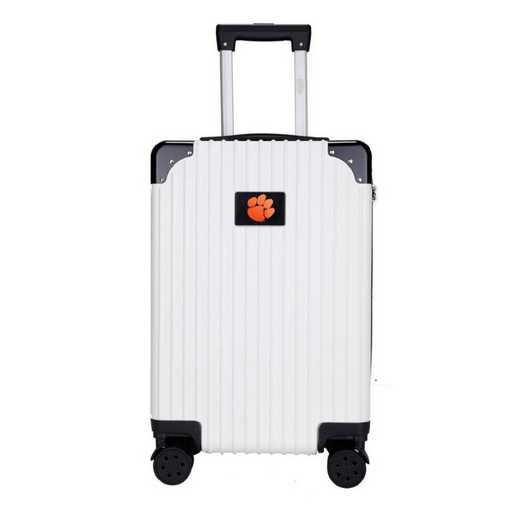 "CLCLL210-WHITE: Clemson Tigers Premium 21"" Carry-On Hardcase"