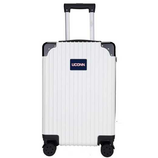 "CLCNL210-WHITE: Connecticut Huskies Premium 21"" Carry-On Hardcase"