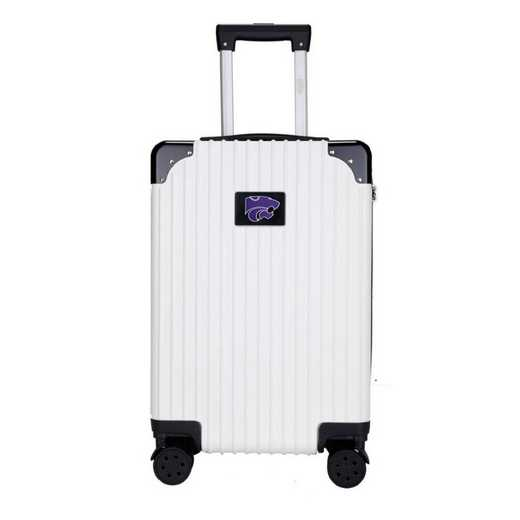 "CLKSL210-WHITE: Kansas State Wildcats Premium 21"" Carry-On Hardcase"