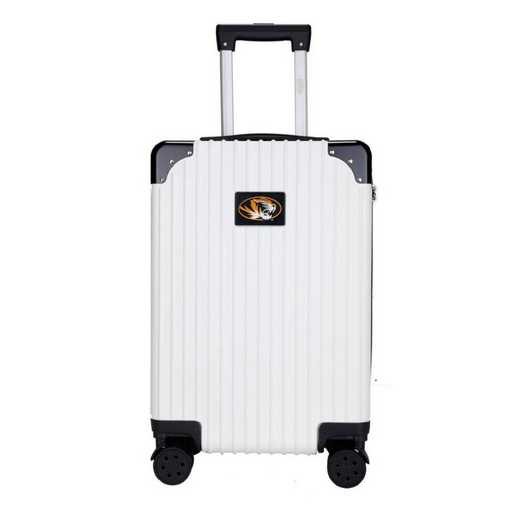 "CLMOL210-WHITE: Missouri Tigers Premium 21"" Carry-On Hardcase"