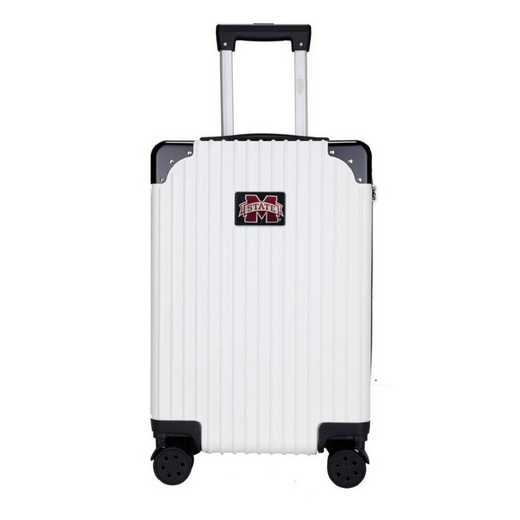 "CLMPL210-WHITE: Mississippi State Bulldogs Premium 21"" Carry-On Hardcase"