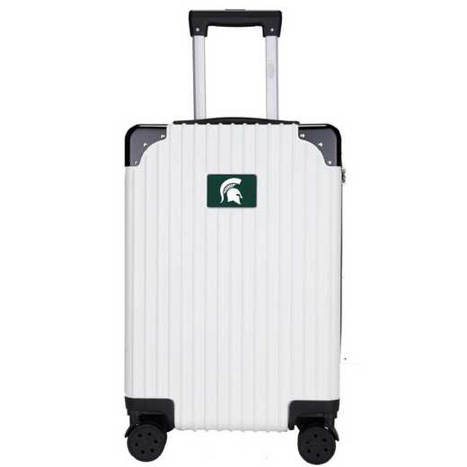 "CLMSL210-WHITE: Michigan State Spartans Premium 21"" Carry-On Hardcase"
