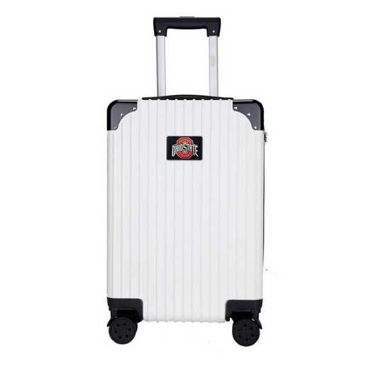 "CLOSL210-WHITE: Ohio State University Buckeyes Premium 21"" Carry-On Hardcase"