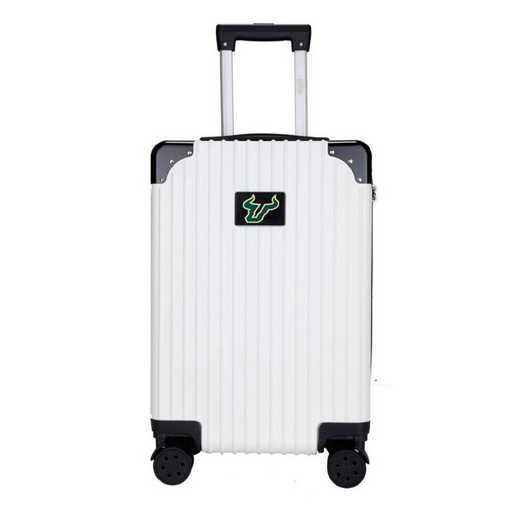 "CLSFL210-WHITE: South Florida Bulls Premium 21"" Carry-On Hardcase"