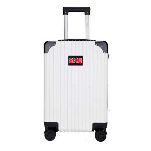 "CLSML210-WHITE: Southern Methodist Mustangs Premium 21"" Carry-On Hardcase"