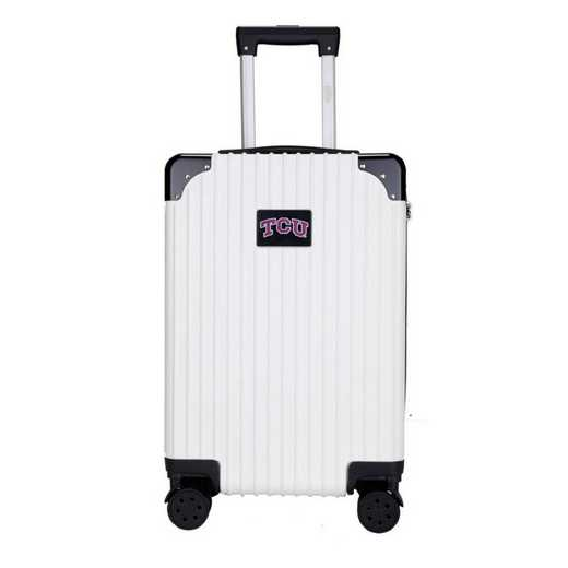 "CLTCL210-WHITE: Texas Christian University Horned Frogs Premium 21"" Carry-On Hardcase"