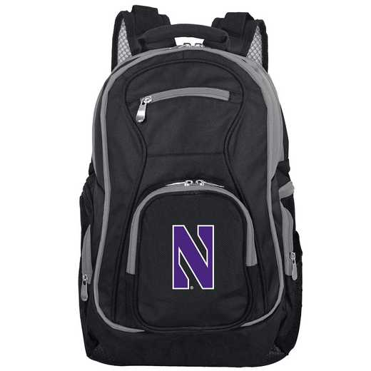CLNWL708: NCAA Northwestern Trim color Laptop Backpack