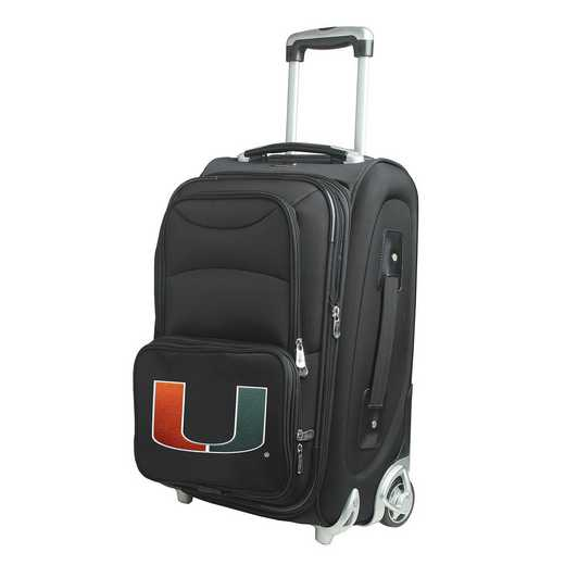CLMUL203: NCAA Miami Hurricanes  Carry-On  Rllng Sftsd Nyln