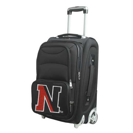 CLNEL203: NCAA Northeastern Huskies  Carry-On  Rllng Sftsd Nyln
