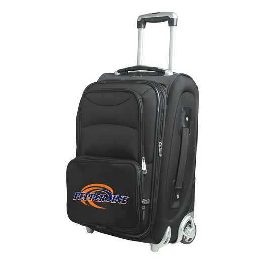 CLPPL203: NCAA Pepperdine Univ Waves  Carry-On  Rllng Sftsd Nyln