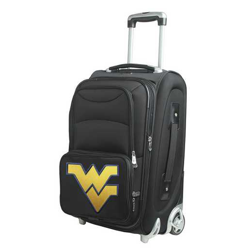 CLWVL203: NCAA West Virginia Mountaineers  Carry-On  Rllng Sftsd Nyln