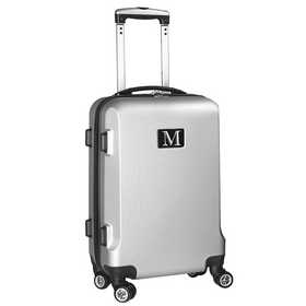 "INMML204-SILVER: Initial Name Letter ""M"" Silver Luggage"