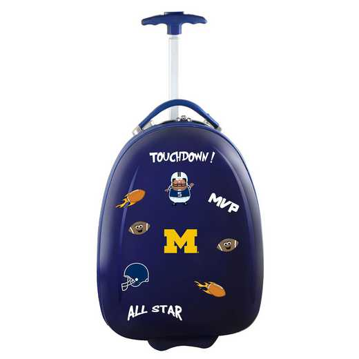 CLMCL601-NAVY: NCAA Michigan Wolverines Kids Luggage Navy