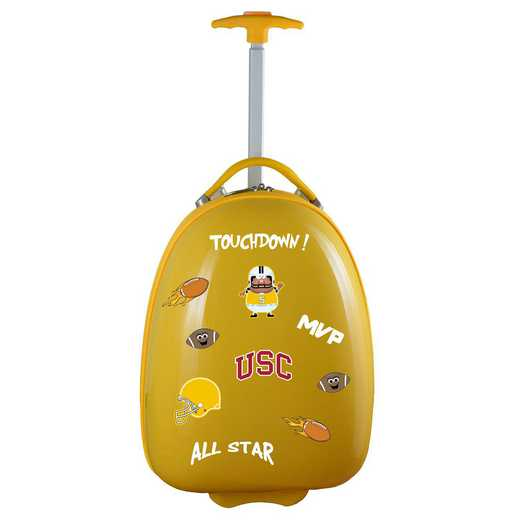 CLSCL601-YELLOW: NCAA Southern Cal Trojans Kids Luggage Yellow