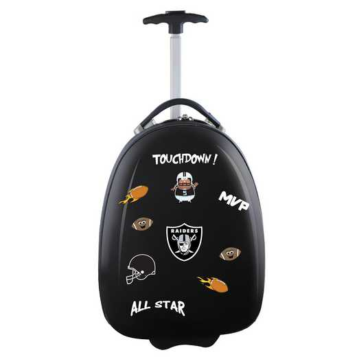 NFORL601-BLACK: NFL Oakland Raiders Kids Luggage Black