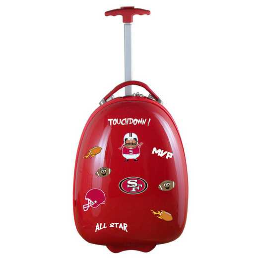 NFSFL601-RED: NFL San Francisco 49ers Kids Luggage Red