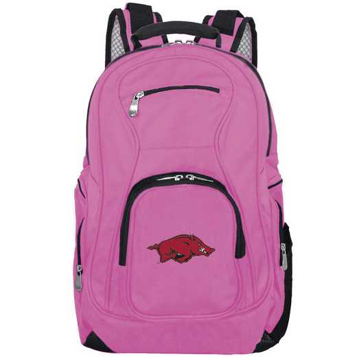 CLARL704-PINK: NCAA Arkansas Razorbacks Backpack Laptop