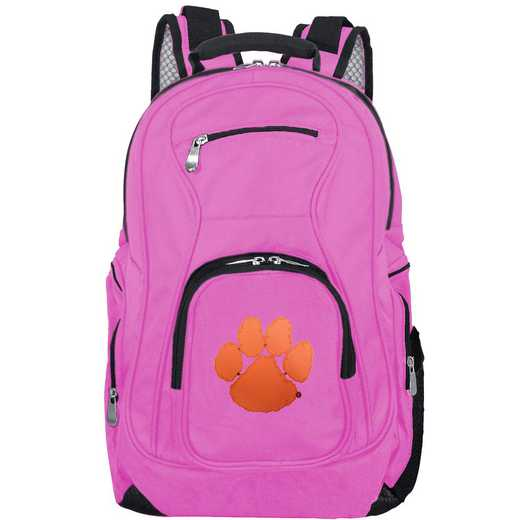 CLCLL704-PINK: NCAA Clemson Tigers Backpack Laptop