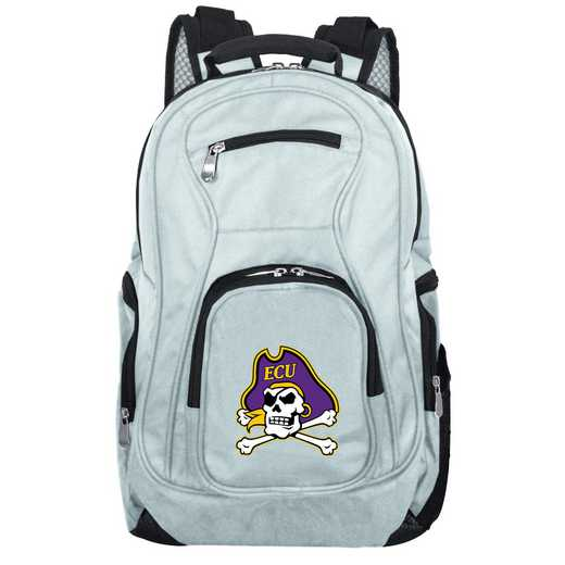 CLECL704-GRAY: NCAA East Carolina Pirates Backpack Laptop