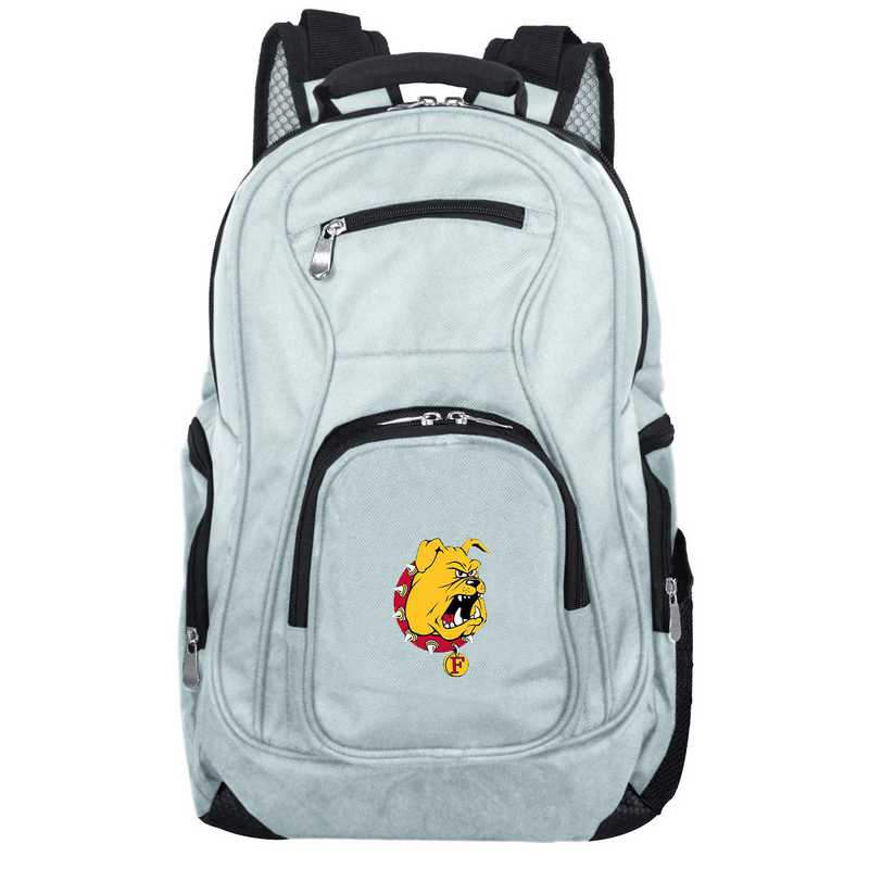 CLFEL704-GRAY: NCAA Ferris State Bulldogs Backpack Laptop