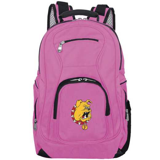 CLFEL704-PINK: NCAA Ferris State Bulldogs Backpack Laptop