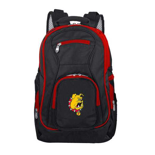 CLFEL708: NCAA Ferris State Bulldogs Trim color Laptop Backpack