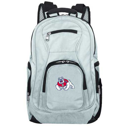 CLFRL704-GRAY: NCAA Fresno State Bulldogs Backpack Laptop