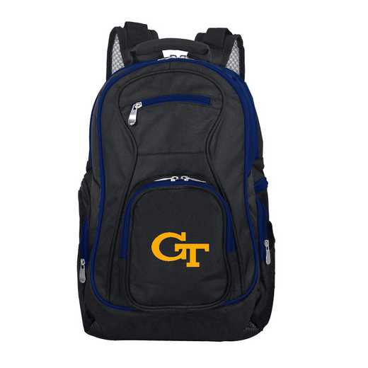 CLGTL708: NCAA Georgia Tech Yellow Jackets Trim color Laptop Backpack