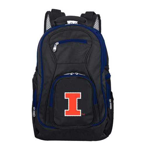 CLILL708: NCAA Illinois Fighting Illini Trim color Laptop Backpack