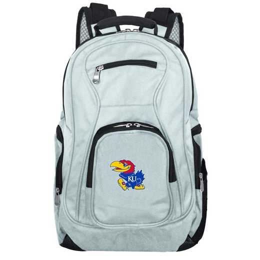 CLKUL704-GRAY: NCAA Kansas Jayhawks Backpack Laptop