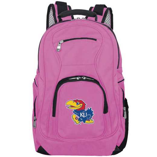 CLKUL704-PINK: NCAA Kansas Jayhawks Backpack Laptop