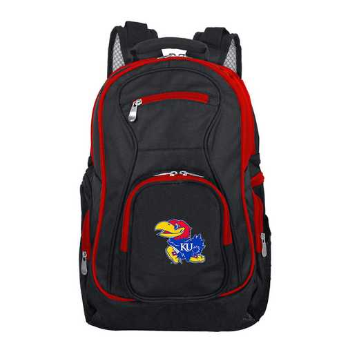 CLKUL708: NCAA Kansas Jayhawks Trim color Laptop Backpack