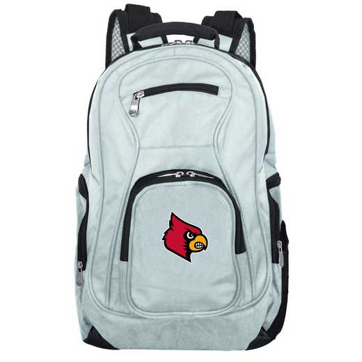 CLLOL704-GRAY: NCAA Louisville Cardinals Backpack Laptop