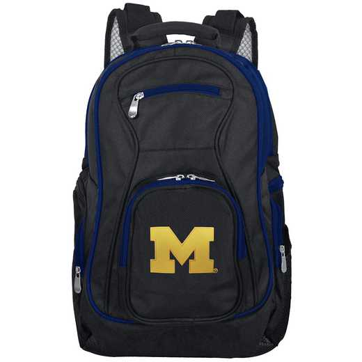 CLMCL708: NCAA Michigan Wolverines Trim color Laptop Backpack