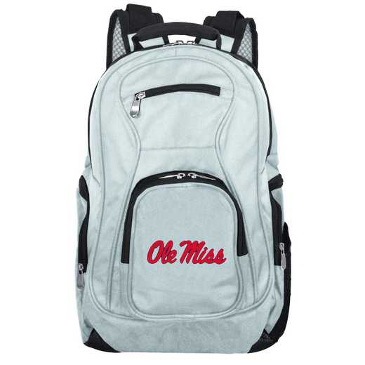 CLMIL704-GRAY: NCAA Mississippi Ole Miss Backpack Laptop