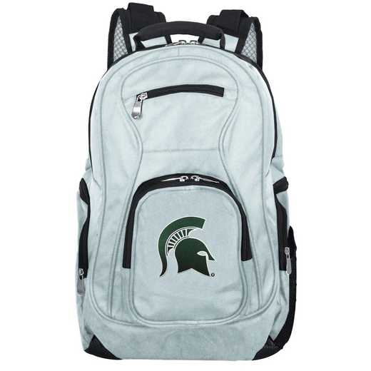 CLMSL704-GRAY: NCAA Michigan State Spartans Backpack Laptop