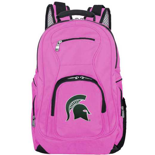 CLMSL704-PINK: NCAA Michigan State Spartans Backpack Laptop