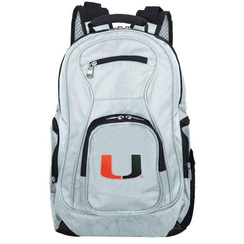 CLMUL704-GRAY: NCAA Miami Hurricanes Backpack Laptop