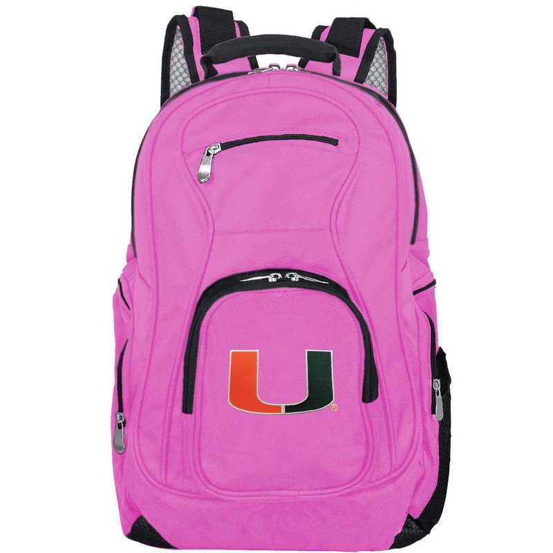 CLMUL704-PINK: NCAA Miami Hurricanes Backpack Laptop