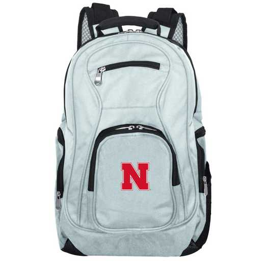 CLNBL704-GRAY: NCAA Nebraska Cornhuskers Backpack Laptop