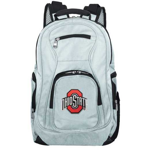 CLOSL704-GRAY: NCAA Ohio State University Buckeyes Backpack Laptop